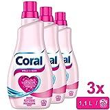 CORAL Unisex Feinwaschmittel Wolle & Seide, 3er Pack (3x22WL) 0,30€/100ml