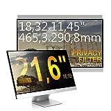 C1st 21,6 Zoll 16:10 Displayfilter Anti-Peeping Blickschutzfilter Sichtschutz Sichtschutzfolie 18,32x11,45zoll/465,3x290,8mm Strahlenschutz Blendschutz Computer Bildschirm Displayschutz