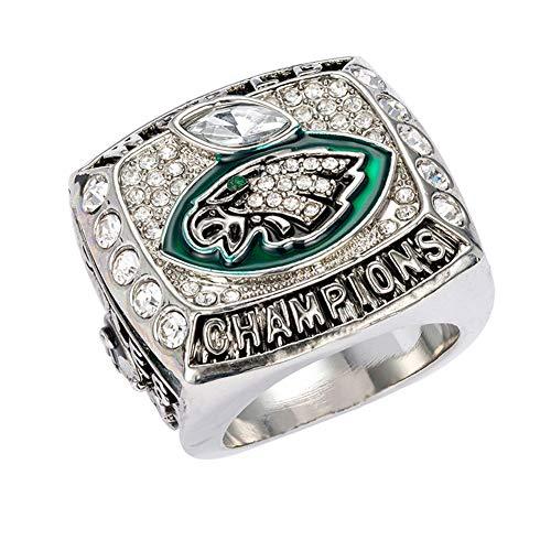 SHATANQ Ringe, Strass Philadelphia Eagles Championship Ring,Als Zeigen,10