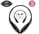 MOTOROLA MOTO M Compatible 2017 HBS-730 sports Wireless Bluetooth Headphones Neckband Hands Free Sport Stereo Headset in Ear Head phone Earbuds for Mobile Phone(BLACK COLOUR)