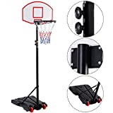 Best Basketball Nets - COSTWAY Basketball Set, Portable Basketball Stand, Upgraded Adjustable Review