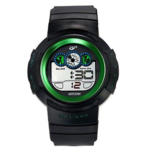 Digital Uhren für Kinder Jungen 30 m Wasserdicht Outdoor Sports Analog Armbanduhr mit Alarm Timer Militär Stil LED-Licht, Kinder, die elektronische Handgelenk Uhren für Jugendliche -