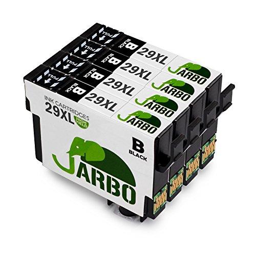 JARBO 29 XL Sostituzione per Epson 29 29XL Cartucce d'inchiostro (4 Nero) Compatibile con Epson Expression Home XP-332 XP-335 XP-235 XP-432 XP-435 XP-245 XP-247 XP-342 XP-345 XP-442 XP-445 XP-330