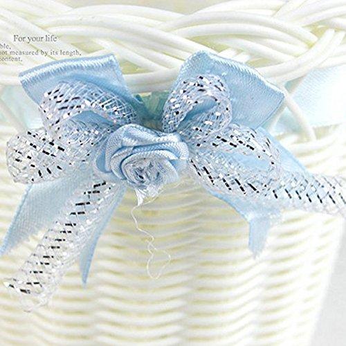 Cestino cesto di fiore forma biccletta festa decorazione matriomonio scatola portaconfetti bomboniera (celeste)