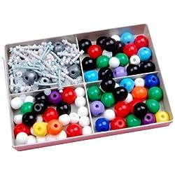 Generic - Kit per modellini molecolari, chimica generale e organica, con scatola robusta per la conservazione