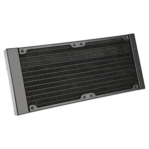 Richer-R 120mm/240mm/360mm Aluminium Radiator, Computer Wasserkühlung Aluminiumheizkörper G1/4 Gewinde,12 Röhren Wasserkühler Kühlkörper Radiator für PC Wasserkühlung(240mm)