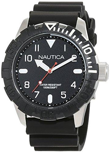 Nautica Orologio Analogico Quarzo Uomo con Cinturino in Silicone NAD09519G