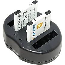 Dot.Foto Sony NP-BN, NP-BN1, NPBN1, NPBN1.CE Batteria (x2) + USB Doppio Caricabatteria [Vedere la descrizione per la compatibilità]