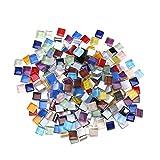Toyvian 10mm Cabujones óvalo de Cristal Mosaico Impreso Cabochons Mosaico Azulejos de Mosaico para Joyería Pulseras 300 g (Diez Colores)