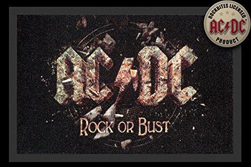 Felpudos Música AC/DC–Rock or Bust–Felpudo, tamaño: 60