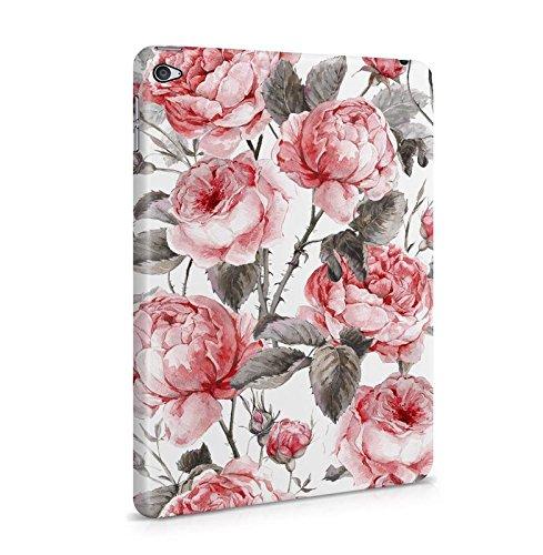 Lily Handy Snap (Vintage Blumen Flowers Wild Rosa Peony Pattern Boho Dünne Tablet Handy Schutzhülle Hardcase Aus Hartplastik Hülle für iPad Mini 4 Case Cover)