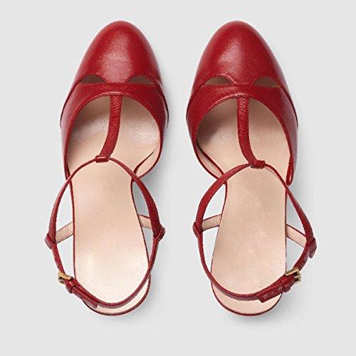 Guoar - Scarpe con cinturino alla caviglia Donna Rot