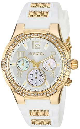 Invicta Women's Analog Quartz Watch with Silicone Strap 24199