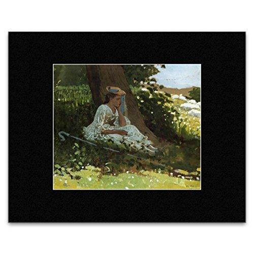 l Winslow Homer-Mädchen mit Shepherd 's Crook sitzen von einen Baum 1878Mini-Poster-30,5x 40.5cm ()