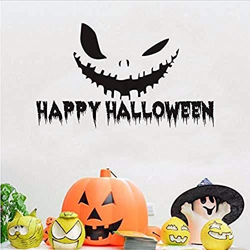 Halloween Kürbis Lächeln Vinyl Wandaufkleber Halloween Wohnkultur Zubehör Wandtattoo Wandbild Schlafzimmer Tür 74 * 44 cm ()