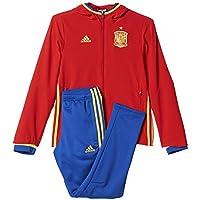 adidas Federación Española de Fútbol 2016 - Traje de chándal para niños, color rojo / amarillo / azul, talla 152