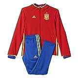 adidas Jungen Trainings/Präsentations-Anzug UEFA Euro 2016 Spanien Trainingsanzug, Rot/Gelb/Blau, 164