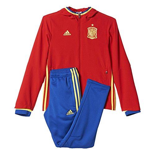 adidas Jungen Trainings/Präsentations-anzug UEFA Euro 2016 Spanien, Scarle/Byello/Croyal, 152, AI4845