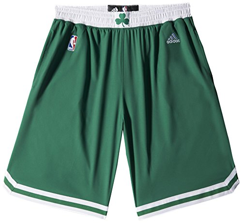 adidas Herren Intnl Swingman Shorts NBA Celti Grün/Weiß, 2XS (Celtics Boston Shorts)