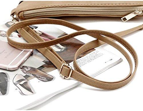QPALZM Frau Beiläufige Quaste Kleine Quadratische Tasche Schulter Schräge Kreuzhandtasche Reißverschluss Schließen A2