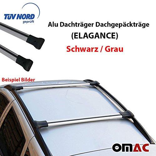Alu Dachträger Gepäckträger Grau OPEL Combo FIAT Doblo 2010>mit TÜV / ABE (ELG)