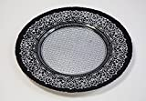 Glas Platzteller 11Designs 5Farben Hochzeiten Veranstaltungen Decor Weihnachten Abendessen 32 cm schwarz/silberfarben