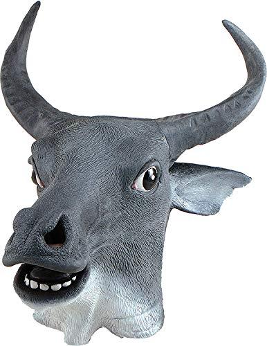 Erwachsene Karneval Dschungel Party Halloween Weihnachten Weihnachten Tier clubwear Cosplay Maske - Cow Über-Kopf, One size (Maske Kopf Gorilla)
