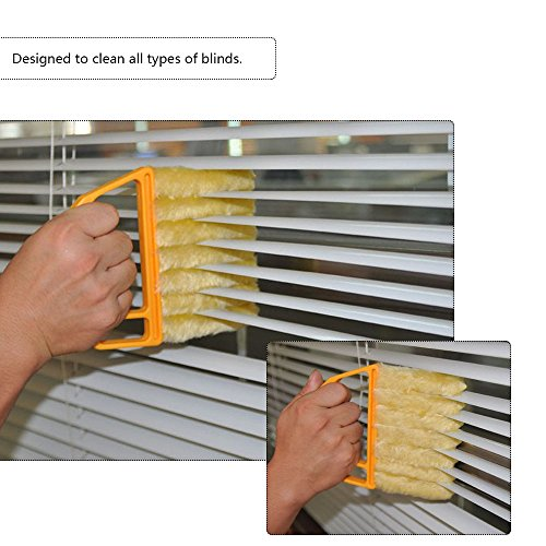 ONEVER Mikrofaser Jalousien Reinigungsbürste Slat Staub Reiniger Reinigung Clip Duster Fenster Klimaanlage Duster Dirt Clean Tool