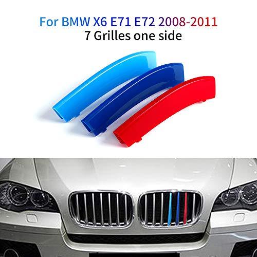 M-Colore Franjas Decorativas para Parrilla Delantera para X6 E71 E72 2008-2011 3 Piezas (7 Varillas)