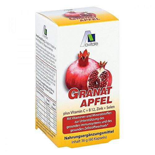GRANATAPFEL 500 mg plus Vit.C+B12+Zink+Selen Kaps. 60 St Kapseln