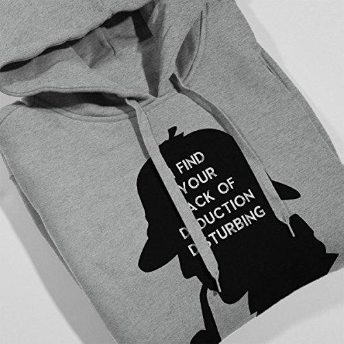 Star Wars Sherlock Holmes Silhouette I Find Your Lack Women's Hooded Sweatshirt Heather Grey