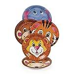 In dieser Packung befinden sich 8 Pappteller aus der beliebten Safari Tiere Serie. Die Teller haben einen Durchmesser von ca. 17,5cm und es sind 4 verschiedene Motive enthalten (Tiger, Affe, Elefant und Löwe). Preis je Packung   Sicherheitshinweise N...