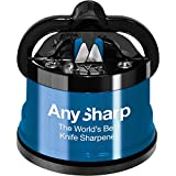 AnySharp Knife Sharpener with PowerGrip, Blue - AnySharp - amazon.co.uk