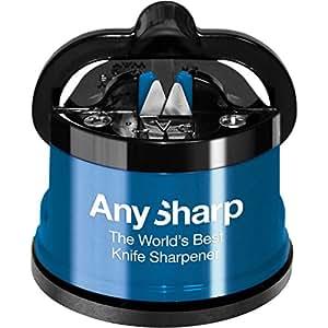 AnySharp ANYSHARPDE Messerschärfer mit Saugnapf blau