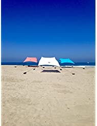 Tienda Neso Carpa de Playa con Ancla de Arena, Canopy Portátil SunShade - 7 'x 7' - Esquinas Reforzadas Patentadas - Beach Tent with Sand Anchor (Blanco)