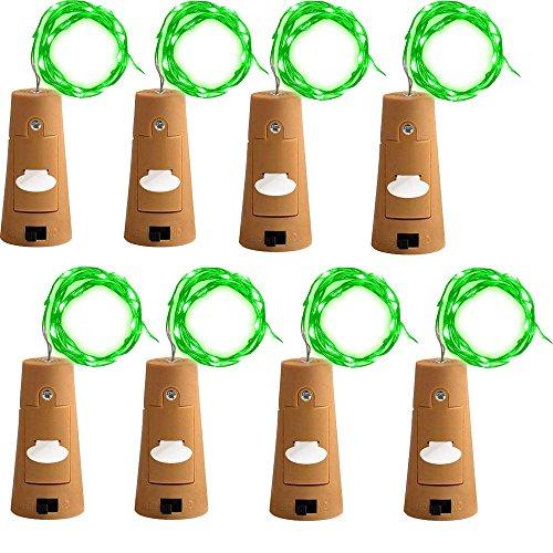 s 2M Flaschen-Licht, LED Lichterketten Weinflasche Mini Kupferdraht, Sternenlichter für Flasche DIY, Party, Dekor, Weihnachten, Hochzeit (Grün) ()