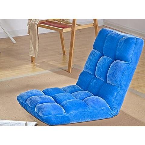 WHH Nuovo/Tinta unita/Tatami Tappetino/cuscino/divano schienale/Semplice/casa/pieghevole/multiuso Sky Blue