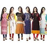 1 Stop Fashion Women's Straight Kurta (Pack of 6)