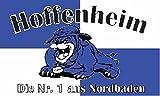 U24 Fahne Flagge Hoffenheim Nr. 1 Bulldogge 90 x 150 cm