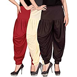 Culture the Dignity Womens Lycra Dhoti CTD_00RCB2_1_RED_BEIGE_BROWN_FREESIZE