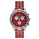 Dior CHRISTAL rot Diamant Chronograph Zifferblatt Damen Armbanduhr cd11431fm002
