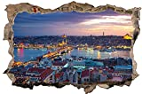 Istanbul Türkei Skyline Wandtattoo Wandsticker Wandaufkleber D1032 Größe 70 cm x 110 cm