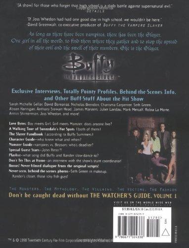 Buffy: v. 1: The Watcher's Guide (Buffy the Vampire Slayer)