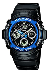 Casio Men's G-Shock Analogue/Digital Quartz Watch with Resin Strap AW-591-2AER