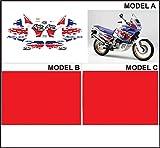 Emanuel & Co Kit adesivi decal stikers HONDA XRV 750 RD 07 1993 AFRICA TWIN (Geben Sie Model A oder B oder C)