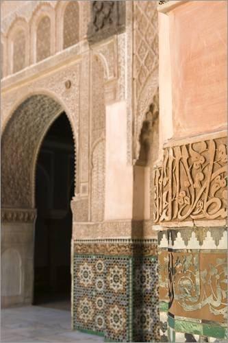 Stampa su tela 80 x 120 cm: Archway of the Islamic world di Walter Bibikow / Danita Delimont - poster pronti, foto su telaio, foto su vera tela, stampa su tela