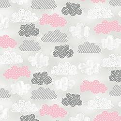 Tela de nubería - nubes grises - WIL18 - por 0,5 metros - por Wilmington - 100% algodón (nubes grises WIL18)