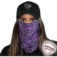 Purple Paisley SA Company Face Shield / Loop Scarf / Bandana / Balaclava. Fishing Face Shields ** Various Designs to Choose From ** Genuine Multi-Functional Headwear / Scarf. SPF 40. Outdoor Activity Face Mask (Fishing, Running, Cycling, Motorbike, Walking, Riding etc)