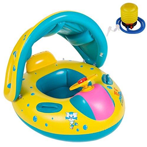 Tumao Baby Schwimmring Schwimmsitz, Aufblasbares Kinderboot Schwimmhilfen Schwimmen für Kinder von 6-36 Monate