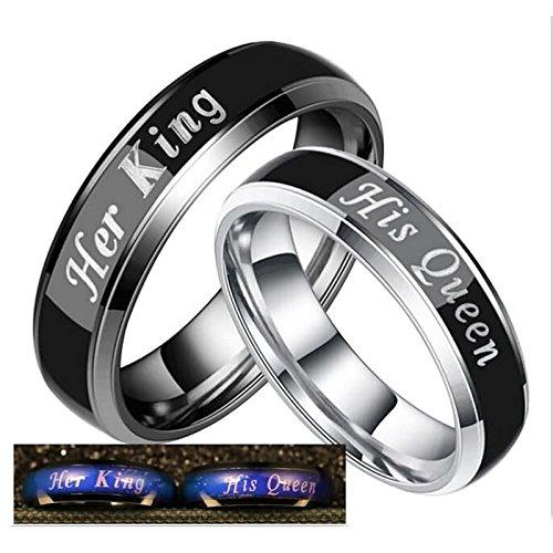 Bishilin Paarepreis Edelstahl Ringe Paare Männer Frauen Graviert